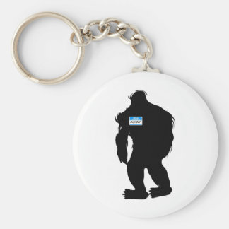 Hello-My Name Is BigFoot Basic Round Button Keychain
