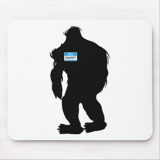 Hello-My Name Is BigFoot Mouse Pad