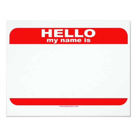Hello my name is BLANK copy Card