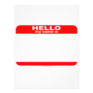 Hello my name is BLANK copy Full Color Flyer