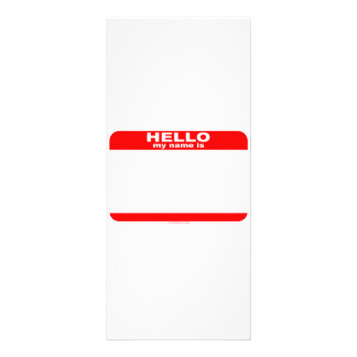 Hello my name is BLANK copy Rack Card