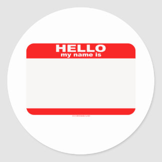 Hello my name is BLANK copy Sticker