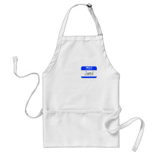 Hello, My Name is ... (blue) Adult Apron