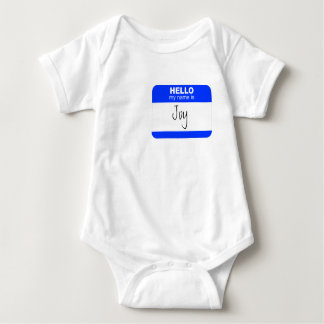 Hello, My Name is ... (blue) Baby Bodysuit