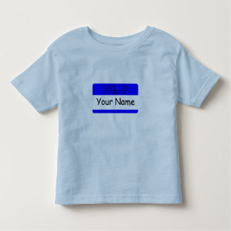 Hello, my name is...Blue/BlueToddler T-shirt