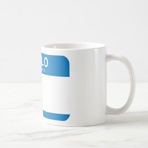 Hello My Name Is - Blue Mug