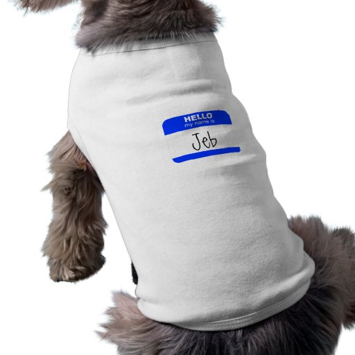 Hello, My Name is ... (blue) Pet Clothing