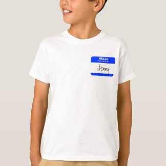 Hello, My Name is ... (blue) T-Shirt