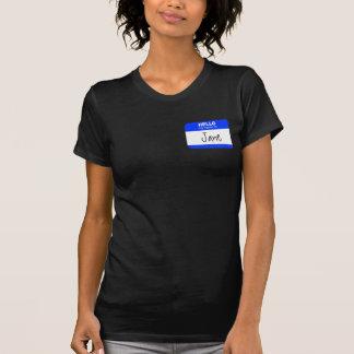Hello, My Name is ... (blue) Tshirt