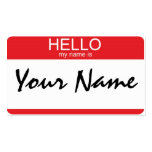 Hello my name is Double-Sided standard business cards (Pack of 100)