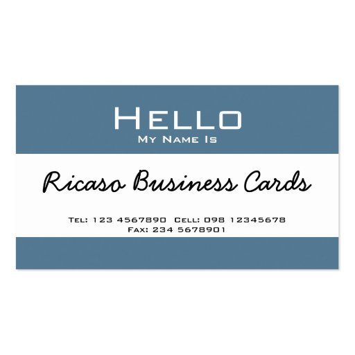 Hello My Name Is Business Card Templates