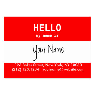 Hello my name is... business cards