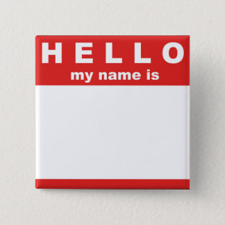 Hello My Name is... Button
