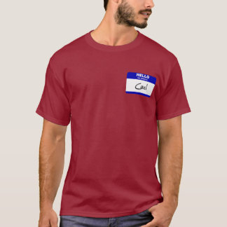 Hello My Name Is Cael (Blue) T-Shirt