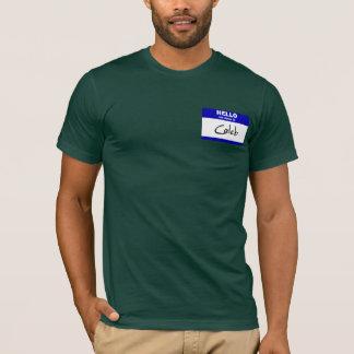 Hello My Name Is Caleb (Blue) T-Shirt