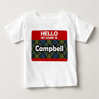Hello My Name is Campbell Scottish Tartan Shirt