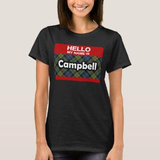 Hello My Name is Campbell Scottish Tartan T-Shirt
