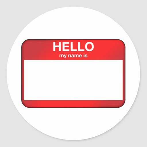 Hello My Name Is... Classic Round Sticker