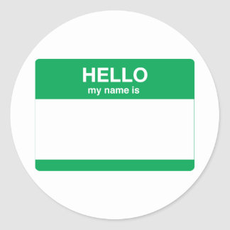 Hello My Name Is Stickers | Zazzle