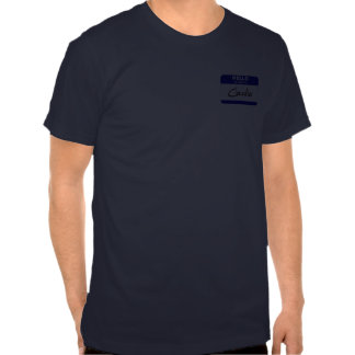 Hello My Name Is Claudia (Blue) T Shirts