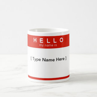 Hello My Name Is cup Classic White Coffee Mug