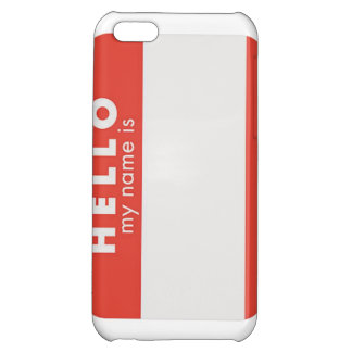 Hello My Name is custom phone case