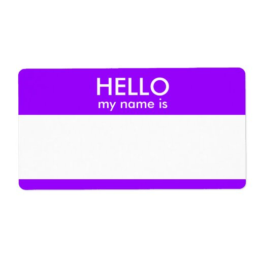 Hello my name is custom shipping label zazzle for Hello my name is sticker template