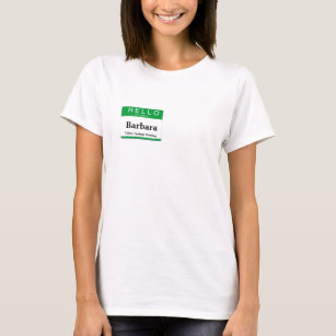 Meet and greet clothing apparel zazzle hello my name is customize this label t shirt m4hsunfo
