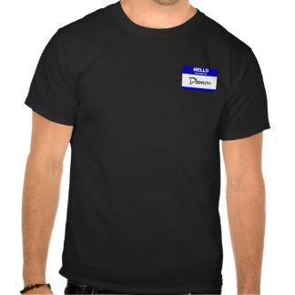 Hello My Name Is Damon (Blue) T Shirt