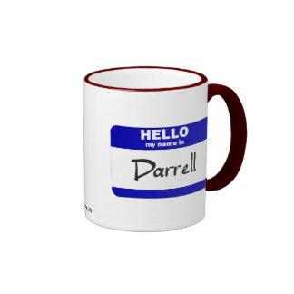 Hello My Name Is Darrell (Blue) Ringer Mug