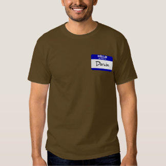 Hello My Name Is Darwin (Blue) T Shirt