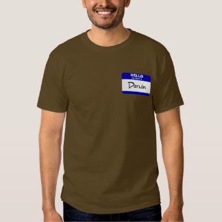 Hello My Name Is Darwin (Blue) Tee Shirt
