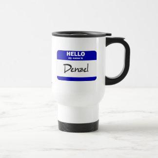 Hello My Name Is Denzel (Blue) Travel Mug