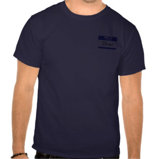 Hello My Name Is Denzel (Blue) T-shirts