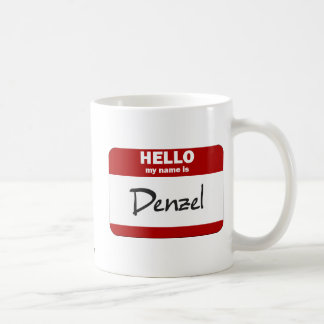 Hello My Name Is Denzel (Red) Coffee Mug
