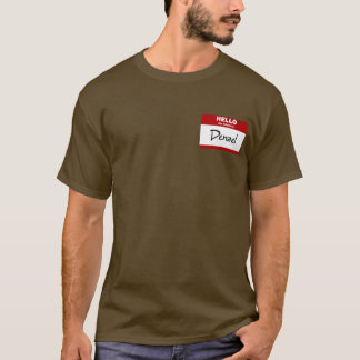 Hello My Name Is Denzel (Red) T-Shirt
