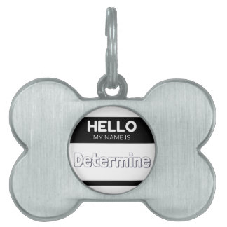 Hello my name is determine pet tag