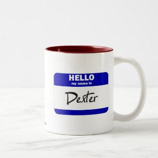 Hello My Name Is Dexter (Blue) Mug