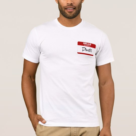 Hello My Name Is Dimitri (Red) T-Shirt