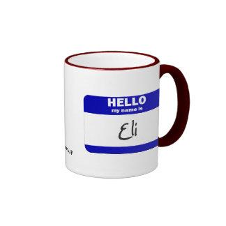 Hello My Name Is Eli (Blue) Coffee Mugs