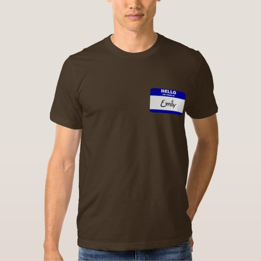 Hello My Name Is Emily (Blue) T-Shirt