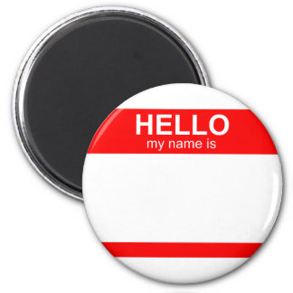 Hello My Name is Flexible 2 Inch Round Magnet