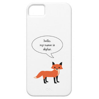 hello my name is..... fox iphone case / all sizes