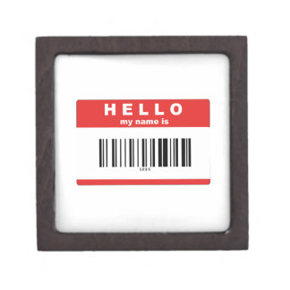 Hello, My Name Is Geek Barcode Gift Box