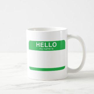 Hello My Name Is - Green Classic White Coffee Mug