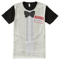 Hello my name is Groomsman Tuxedo Wedding T-Shirt