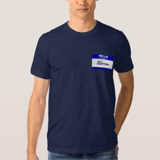 Hello My Name Is Hamza (Blue) T Shirt