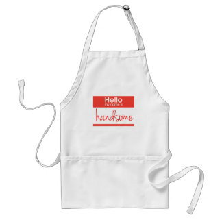 'Hello My Name Is Handsome' Adult Apron