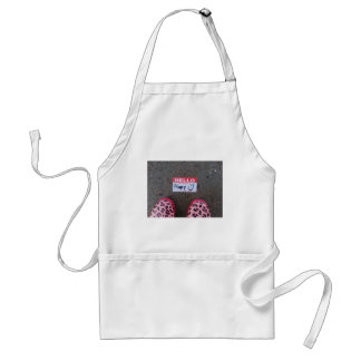 Hello, My Name Is Happy Aprons