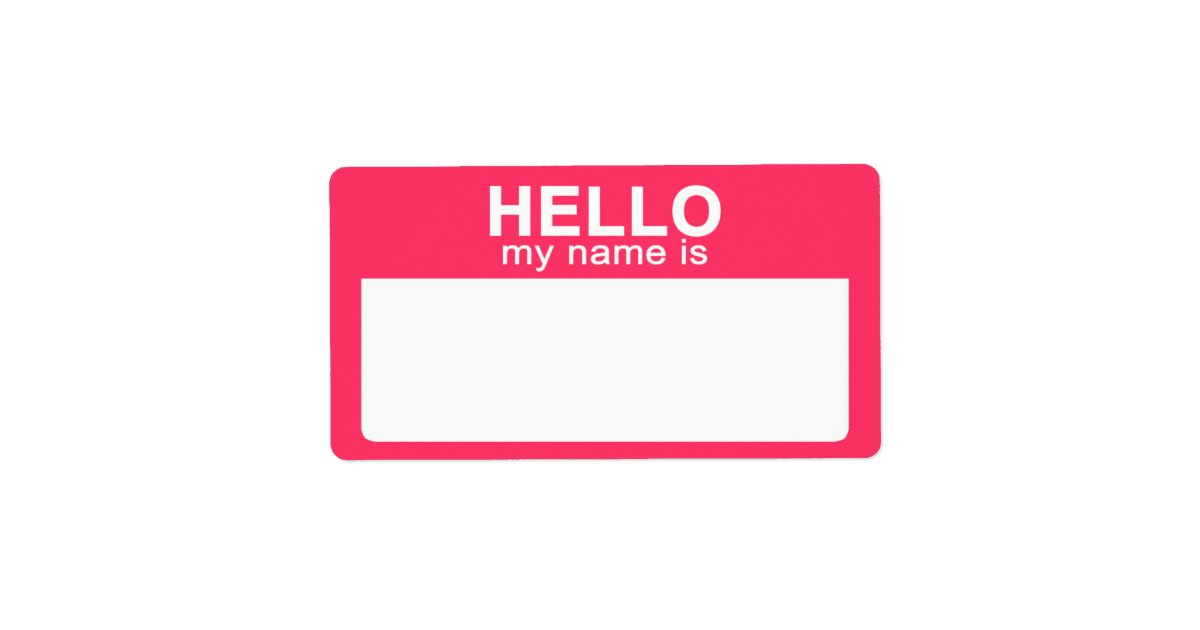Hello My Name Is: Hello My Name Is, Hot Pink Name Tag Labels